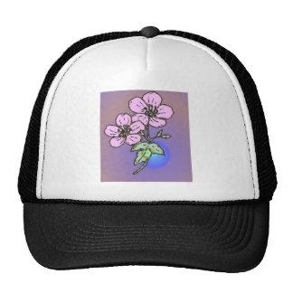 Flor de color de malva gorras de camionero