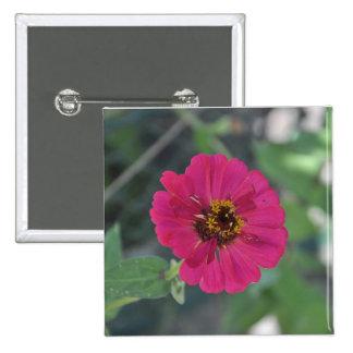 Flor de color de malva pin cuadrada 5 cm