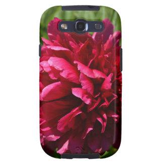 Flor de color rosa oscuro hermosa del Peony - jard Galaxy SIII Carcasa