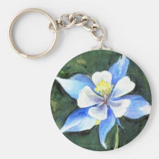 Flor de Columbine Llavero Personalizado