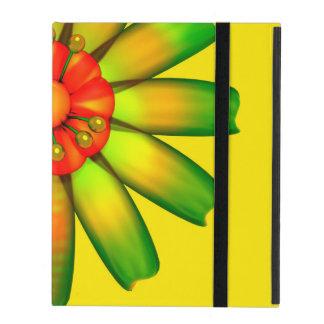 Flor de cristal abstracta iPad protector