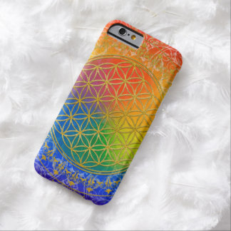 Flor de DES Lebens - arco iris de la vida/de Blume Funda De iPhone 6 Barely There