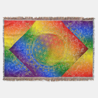 Flor de DES Lebens - arco iris de la vida/de Blume Manta