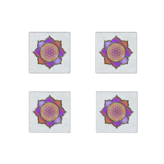 Flor de DES Lebens de la vida/de Blume - la violet Imán De Piedra