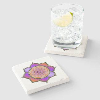 Flor de DES Lebens de la vida/de Blume - la violet Posavasos De Piedra