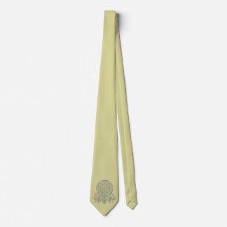 Flor de DES Lebens - ornamentos de la vida/de Corbata Personalizada