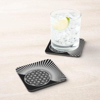 Flor de DES Lebens - plano blanco de la vida/de Posavasos De Bebidas