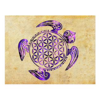 Flor de DES Lebens - púrpura de la vida/de Blume Postales