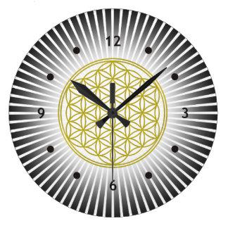 Flor de DES Lebens - rayos blancos de la vida/de Reloj