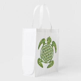 Flor de DES Lebens - verde de la vida/de Blume de Bolsas Para La Compra