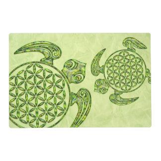 Flor de DES Lebens - verde de la vida/de Blume de Tapete Individual