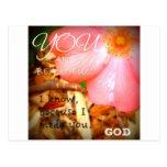 Flor de dios tarjeta postal