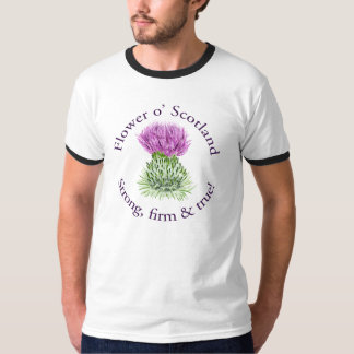 Flor de Escocia. ¡Fuerte, firme y verdad! Playera
