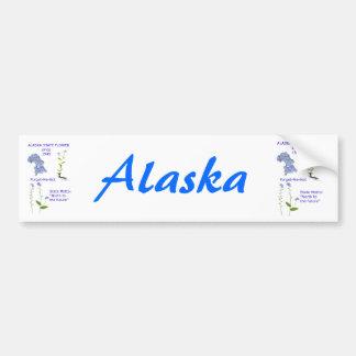 Flor de estado de Alaska Pegatina De Parachoque