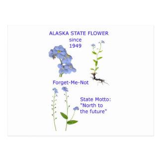 Flor de estado de Alaska Postales