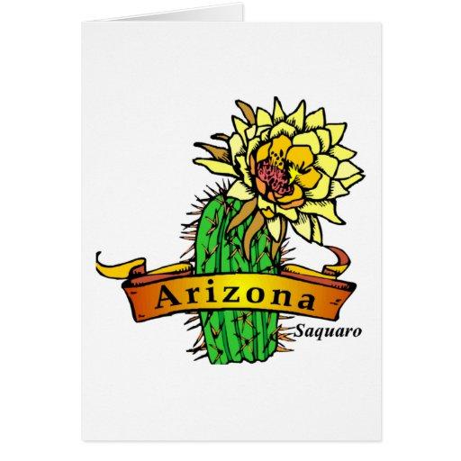 Flor de estado de Arizona - Saguaro Felicitacion