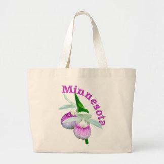 Flor de estado de Minnesota Bolsa Lienzo