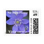 Flor de estado de New Jersey NJ (violeta) Sellos