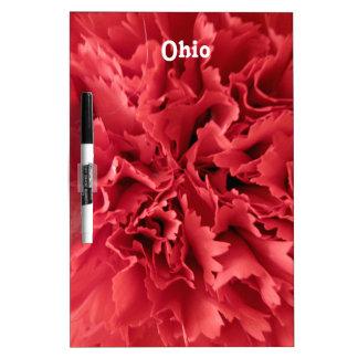 Flor de estado de Ohio Tablero Blanco