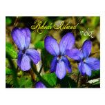 Flor de estado de Rhode Island: Violeta Postales