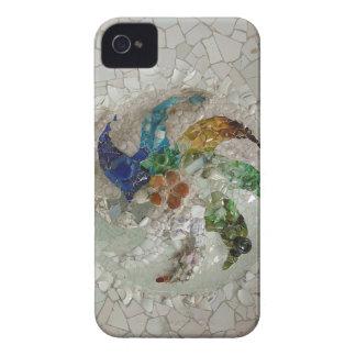 Flor de Gaudi Case-Mate iPhone 4 Protectores