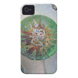 Flor de Gaudi iPhone 4 Fundas