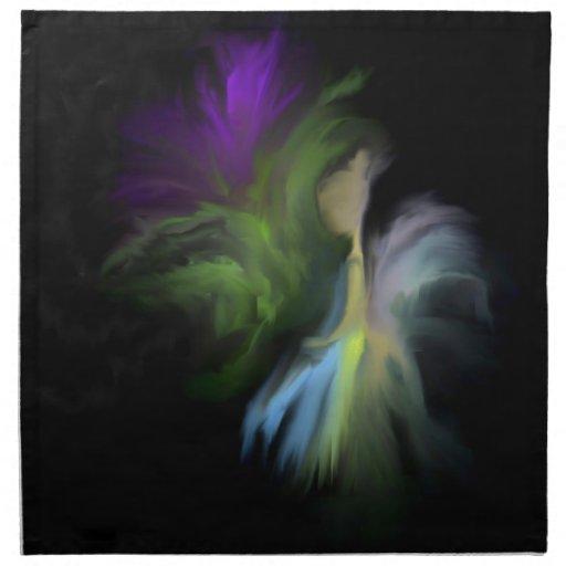 Flor de hadas servilletas imprimidas