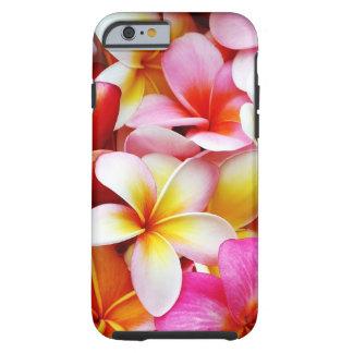 Flor de Hawaii del Frangipani del Plumeria Funda Resistente iPhone 6