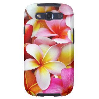 Flor de Hawaii del Frangipani del Plumeria modific Galaxy SIII Fundas