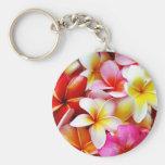 Flor de Hawaii del Frangipani del Plumeria modific Llavero Redondo Tipo Pin
