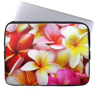 Flor de Hawaii del Frangipani del Plumeria modific Mangas Computadora