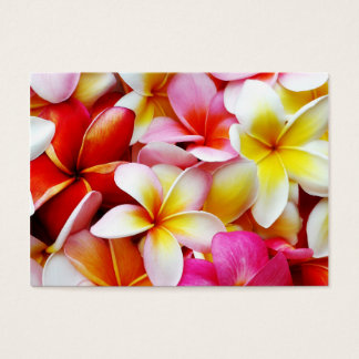 Flor de Hawaii del Frangipani del Plumeria Tarjetas De Visita Grandes