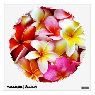 Flor de Hawaii del Frangipani del Plumeria Vinilo Decorativo