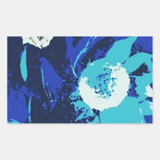 Flor de IMG_0151-001.jpgfanciful en colores Pegatina Rectangular