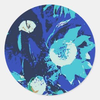 Flor de IMG_0151-001.jpgfanciful en colores Pegatina Redonda