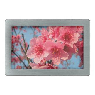 Flor de Japón Sakura Hebillas De Cinturón Rectangulares