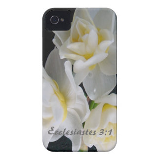 Flor de Jonquil - 3:1 de Ecclesiastes iPhone 4 Carcasa
