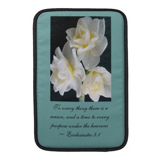 Flor de Jonquil - 3:1 de Ecclesiastes Fundas Macbook Air