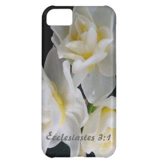 Flor de Jonquil - 3:1 de Ecclesiastes Funda Para iPhone 5C