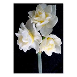 Flor de Jonquil - tarjeta de la zona del 3:1 de Plantilla De Tarjeta De Visita