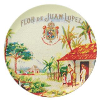 FLOR DE JUAN CIGAR LABEL PLATE