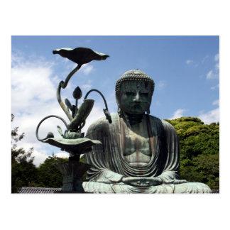 flor de kamakura Buda Tarjetas Postales
