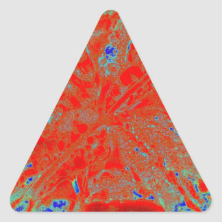Flor de la acción pegatina triangular