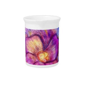Flor de la acuarela jarrón