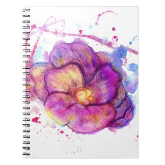Flor de la acuarela libreta