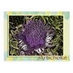 Flor de la alcachofa postal