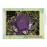 Flor de la alcachofa tarjetón