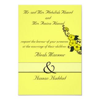 """Flor de la alheña (amarillo) invitación 3.5"""" x 5"""""""
