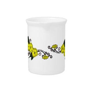 Flor de la alheña (amarillo) jarras de beber