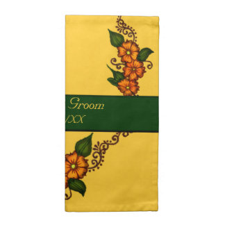Flor de la alheña servilleta de papel